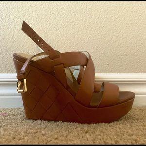 MICHAEL Michael Kors Shoes/Wedges Tan Leather
